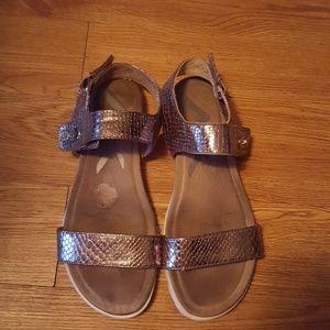 Anne Klein sport metallic sandals